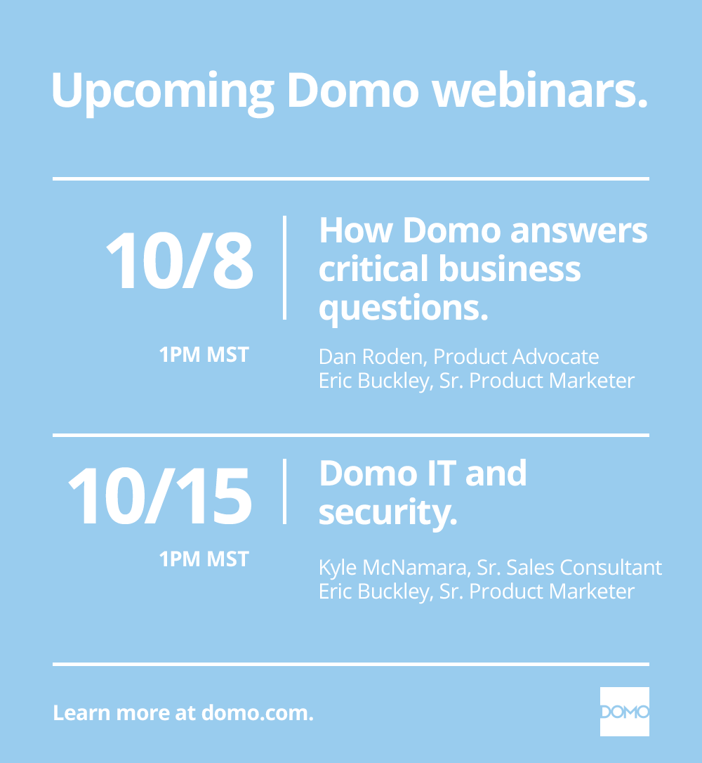 Domo Blog - Weekly Webinars