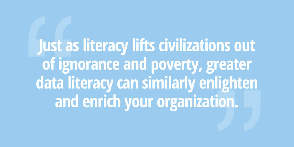 Data literacy quote