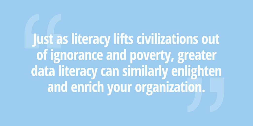 Data literacy quote