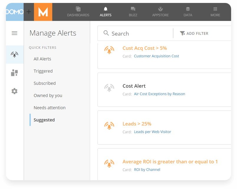 Manage all of your alerts